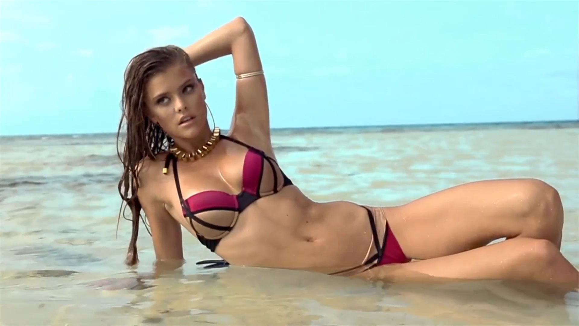 bombshell-nina-agdal-for-beach-bunny-swimwear-2014